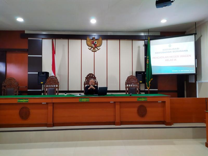 Sosialisasi Kemudahan Berusaha Pada Pengadilan Negeri Sragen