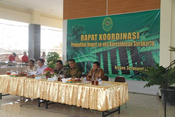 Rapat Koordinasi Pengadilan Negeri Se-eks Karesidenan Surakarta