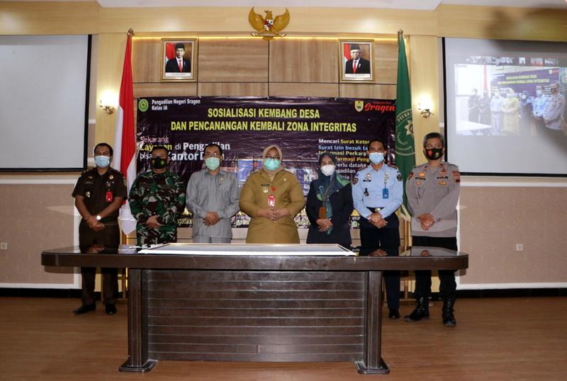 Sosialisasi Kembang Desa oleh Pengadilan Negeri Sragen Kelas IA Bekerja Sama dengan Pemerintah Kabupaten Sragen