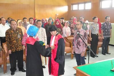 Pelantikan Wakil Ketua Pengadlian Negeri Sragen Klas 1B – Acice Sendong, SH., MH.